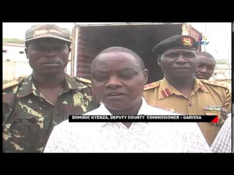 Contraband Seized: Smuggled consumer goods seized in Garissa County