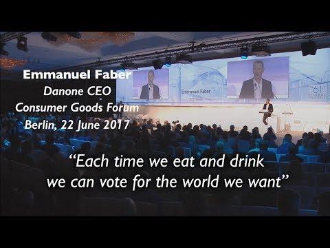 Discours d'Emmanuel Faber au Consumer Goods Forum 2017