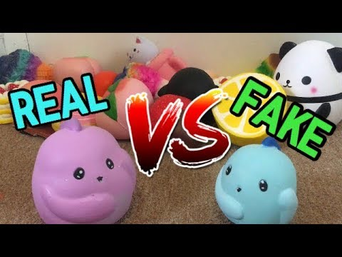 REAL vs KNOCKOFF SQUISHIES+giveaway winners