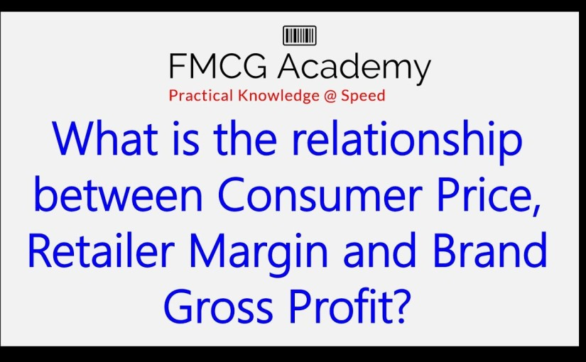 What is the relationship between Consumer Price, Retailer Margin and Brand Gross Profit